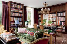 10 bibliothèques stylées | CHEZ SOI Photo: ©Architectural Digest | Roger Davies #deco #bibliotheque #biblio #amenagement #style #arrangement #livre #accessoire #salon