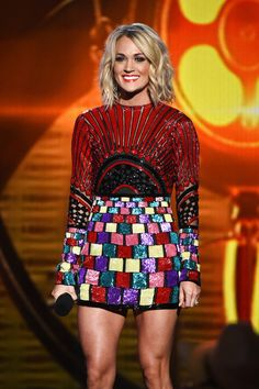 Carrie Underwood Photos Photos - Singer Carrie Underwood performs onstage during the 2016 American Country Countdown Awards at The Forum on May 1, 2016 in Inglewood, California. - 2016 American Country Countdown Awards - Show