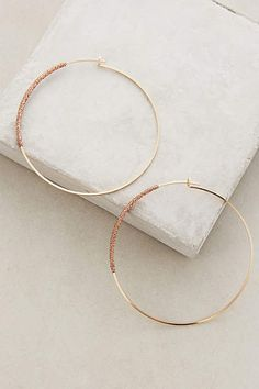 Thread-Wrapped Hoops - anthropologie.com