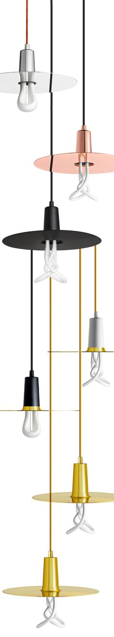 The Drop Hat Shade is modular so you can mix and match cords, bulbs and colourways. Copper, White, Black, Brass and Chrome, all available to buy at www.plumen.com