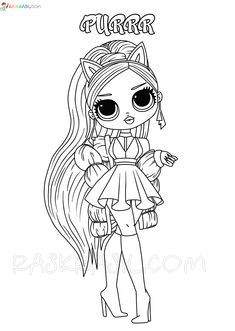 Puppy Coloring Pages, Barbie Coloring Pages, Unicorn Coloring Pages, Cat Coloring Page, Cool Coloring Pages, Disney Coloring Pages, Doll Drawing, Flower Art Drawing, Kawaii Girl Drawings