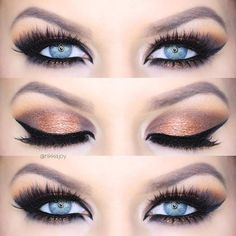 Industry Experts Give You The Best Beauty Tips Ever – Lazy Days Beauty Golden Eyeshadow, Eyeshadow For Blue Eyes, Eyeshadow Tips, Natural Eyeshadow, Eyeshadow Palette, Eyeshadows, Morphe Palette, Simple Wedding Makeup, Best Wedding Makeup