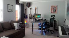 Gaming and Music Studio/Office via Reddit user revlogic