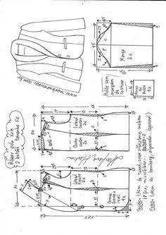 Two button women's blazer, trim finished outer edges Blazer Pattern, Collar Pattern, Jacket Pattern, Coat Patterns, Dress Sewing Patterns, Clothing Patterns, Barbie Clothes, Diy Clothes, Sewing Blouses