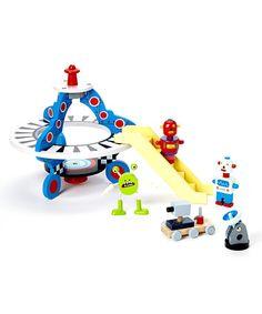 Another great find on #zulily! Wooden Spaceship Toy Set #zulilyfinds