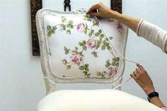 Retapizá el respaldo de una silla de estilo francés
