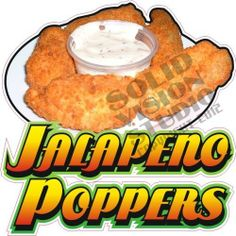 """7"""" Jalapeno Poppers Fried Fast Food Restaurant Bar Concession Trailer Decal"""