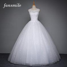 Fansmile coreano lace up vestido de baile vestidos de casamento de qualidade 2017 plus size vestido de noiva alibaba do vestido de casamento real photo frete grátis
