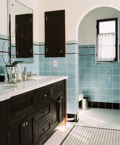 bathroom tile tiled floor mosaic gorgeous inspiration remodel design vanity chandelier dining room kitchen basketweave | Froghill Designs Bl...
