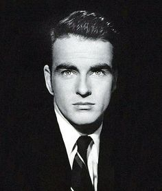 Montgomery Clift - what a face! (BEFORE his 1953 car accident that permanently disfigured that flawless, beautifully chiseled face)