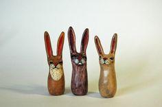 Reddish Brown Tall Rabbit by lexikm on Etsy