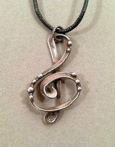 Treble Clef G Clef mixed metal pendant necklace from the Alchemic Collection by Laura Beth Love