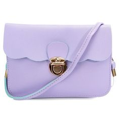 Sweet Women Leather Candy Color Satchel Crossbody Bag