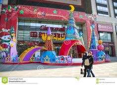 Image result for shopping mall christmas decorations