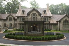 Circular Drive Hedges Landscaping, Landscape Design, Cabin, Balconies, Mansions, House Styles, Photos, Home Decor, Ideas