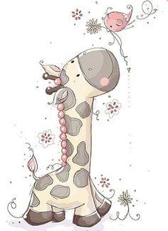 White&Grey Giraffe.