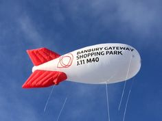#RecentWork A lovely giant inflatable blimp flying high in the sky! #InflatableAdvertising
