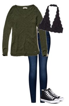 """Untitled #38"" by fia2002 on Polyvore featuring 2LUV, Hollister Co. and Converse"
