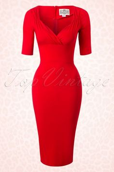 Collectif Clothing Trixie Red Pencil Dress 100 20 16112 20150911 1