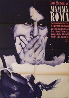 1967 East German poster for Mamma Roma (Pier Paolo Pasolini, Italy, 1962). Designer: Gruttner.