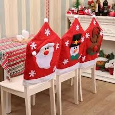Santa Snowman Chair Back Cover Christmas Party Dinner Table Decor Gifts Chair Back Covers, Chair Backs, Christmas Chair Covers, Dinner Party Table, Slipcovers For Chairs, Creative Decor, Xmas Decorations, Holiday Decor, Snowman