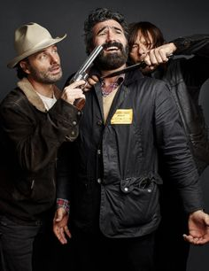 Andrew & Norman behind the scenes of the photoshoot for T.V. Guide Magazine. January 2016