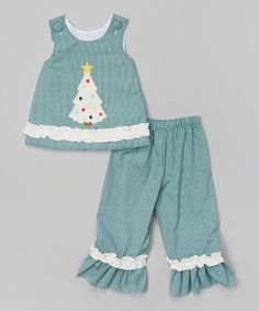 Another great find on #zulily! Green Christmas Tree Tank & Pants - Infant, Toddler & Girls #zulilyfinds