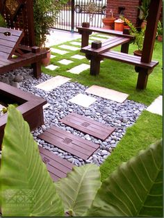 New Terrace Home Inspiring Ideas - quite like these zig zag bridges. Have a zen-crossing-the-water thing going on.