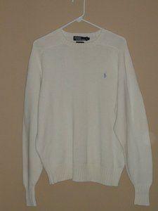 $49.95 OBO Men's Ralph Lauren POLO Blue Label Pony Beige Crewneck Sweater Size: Large