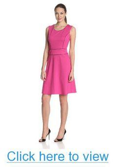Anne Klein Women's Ponte Fitted-Flare Dress #Anne #Klein #Womens #Ponte #Fitted_Flare #Dress