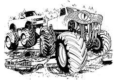 Ausmalbilder Monster Truck Kostenlos Grundschule Pinterest