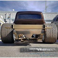 """1953 Ford F100 Bagged on 24x15"""" Raceline Smuggler wheels"""