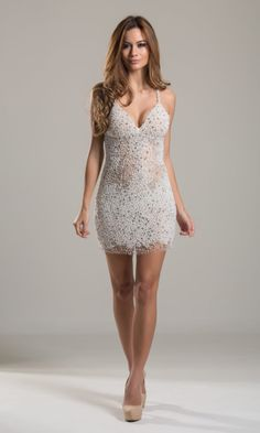 Vestido Branco de Pedras - ALUGUE NA SAY YES 2 THE DRESS