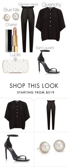 """Untitled #36"" by chiquelefrique ❤ liked on Polyvore featuring Givenchy, Gabriela Hearst, Yves Saint Laurent, Blue Nile and Chanel"