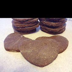 Gluten free/Low Glycemic/Paleo cut out cookies.  Beat 3/4c butter and 1/2c agave syrup (or honey if not LG). Add 1 egg and beat until combined. Add 1c almond flour, 3/4c coconut flour, 1/2c cocoa powder,1/2tsp baking powder, 1/8tsp salt. Chill at least 1 hr. Roll out on coconut flour covered surface and cut into shapes. Bake at 325 on silicone sheet for 12-15 mins.