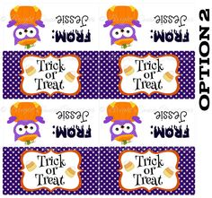Personalized Halloween Treat Bag Topper -DIY Printable - Print all you need! C2