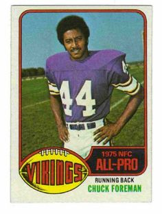 #19 Chuck Foreman compares to all-pros Ahman Green, Lawrence McCutcheon, Wilbert Montgomery, Lydell Mitchell, Larry Jr. Brown, Alan Ameche, Terrell Davis, William Andrews, Brian Westbrook, Clinton Portis