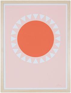 """Orange Sun"" by Becky Hui Chan, available at Serena & Lily. #serenaandlily"