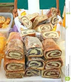 Old World Recipe for Croatian Nut Rolls as related to me by someone who baked these every Easter. Slovak Recipes, Nut Recipes, Hungarian Recipes, Polish Recipes, World Recipes, Sweet Recipes, Cookie Recipes, Dessert Recipes, Bread Recipes