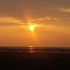 #Sunset in West Kirby beach #loveukweather