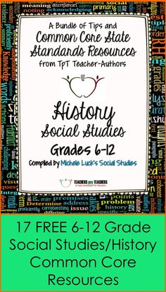 Free 6-12 Grades Social Studies/History Resources That Support the Common Core!