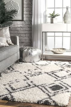 Rugs USA - Area Rugs in many styles including Contemporary, Braided, Outdoor and Flokati Shag rugs.Buy Rugs At America's Home Decorating SuperstoreArea Rugs White Shag Rug, White Rug, White Area Rug, Living Room Area Rugs, Living Room Trends, Living Room Inspiration, 8x10 Area Rugs, Rugs Usa, Houses