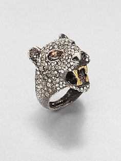 18k Gold Jewelry, Golden Jewelry, Panther Ring, Alexis Bittar, Anklets, Trinket Boxes, Jaguar, Rings For Men, Gold Necklace