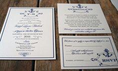 Vintage Anchor Custom Wedding Invitation by Bdesignsinvitations, $4.05