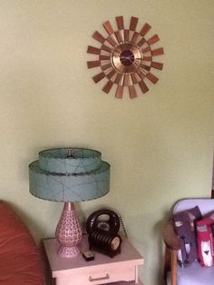 Mid century - The lamp AND the clock...cool!