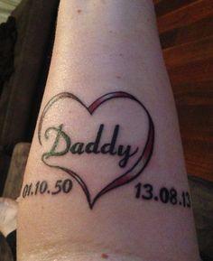 dad memorial tattoos