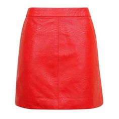 Topshop Petite Short Pencil Pu Skirt (2.440 RUB) ❤ liked on Polyvore featuring skirts, short red skirt, pocket skirt, pu pencil skirt, red skirt and petite skirts