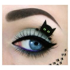 Amazing make-up artist creates super-cute cat pictures on a unique... ❤ liked on Polyvore featuring beauty products, makeup, eye makeup, eyeshadow and cat