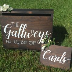 A personal favorite from my Etsy shop https://www.etsy.com/ca/listing/488296978/wedding-card-box