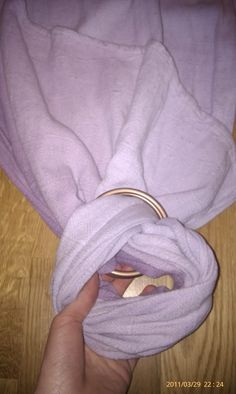 Open out loop of wrap fabric